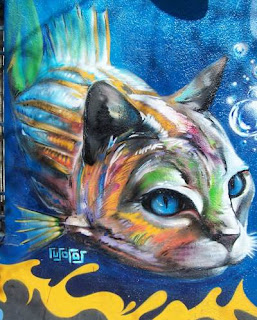 cat graffiti animal