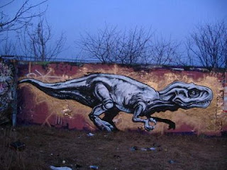 Dinosourus Graffiti wall