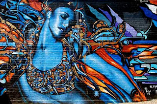 Woman Street Graffiti