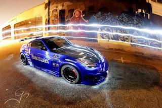 Street Graffiti Light Car