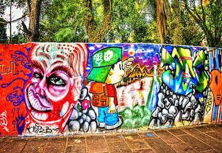 Cartoon Street Graffiti