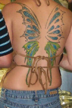 Just share about butterfly tattoos on back , Please give ideas for the next