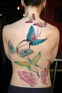 lower back buterfly tattoos