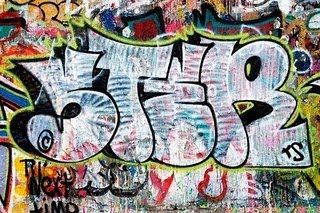 Graffiti design buble letters