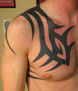 tribal tattoos on chest