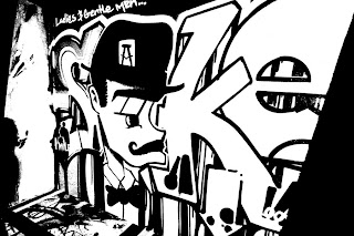 graffiti blck and white ideas