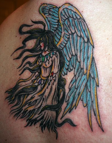 Tattoos for men angels is one ideas for you If you think angel tattoos just