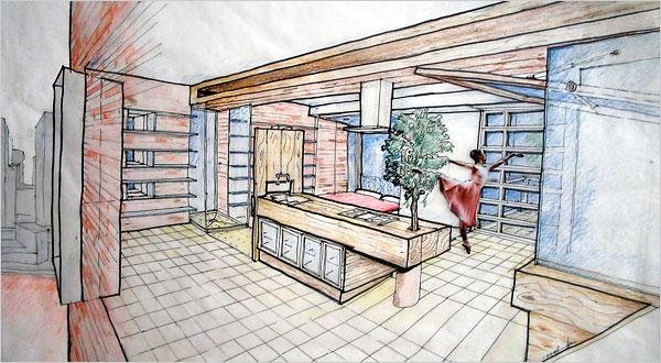 Interior design drawing interiors design for Interior design sketches