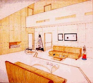 interior design drawing sketches