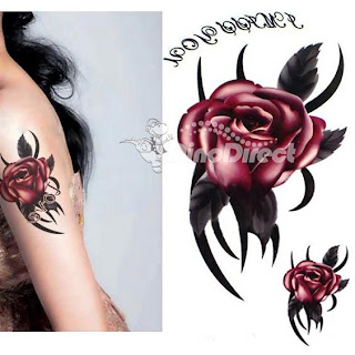 temporary flower tattoos ideas for girls