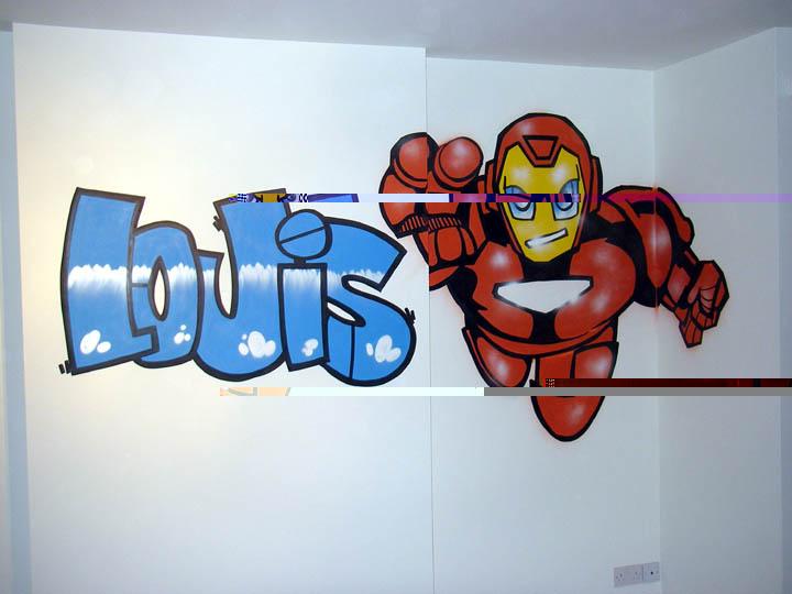 Graffiti news graffiti bedroom wallpaper cartoon - Bedroom wall graffiti ideas ...