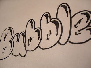 graffiti buble alphabet letters
