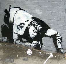 graffiti police art design