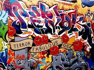 terror graffiti alphabet cool design