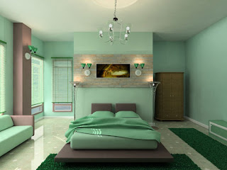 modern bedroom design ideas with green style