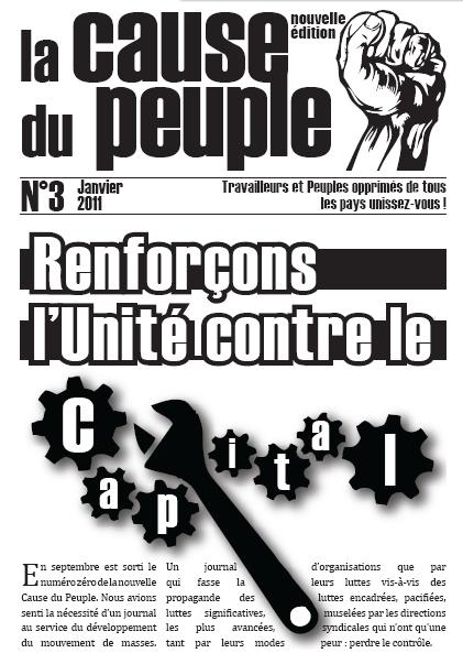 La cause du peuple (version PCMF) UNE-CDP3