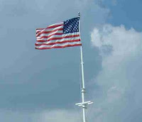 US Flag at Fort Macon in North Carolina