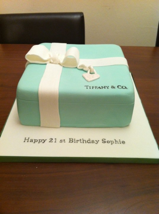 Cakes By Roses N Bows X Tiffany And Co 21st Birthday Cake Done