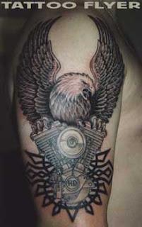 Harley-Davidson Motor Tattoos