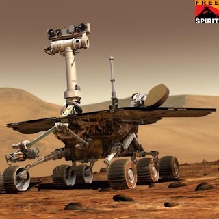 space robot, robot spirit, robot surface of mars, robot mars