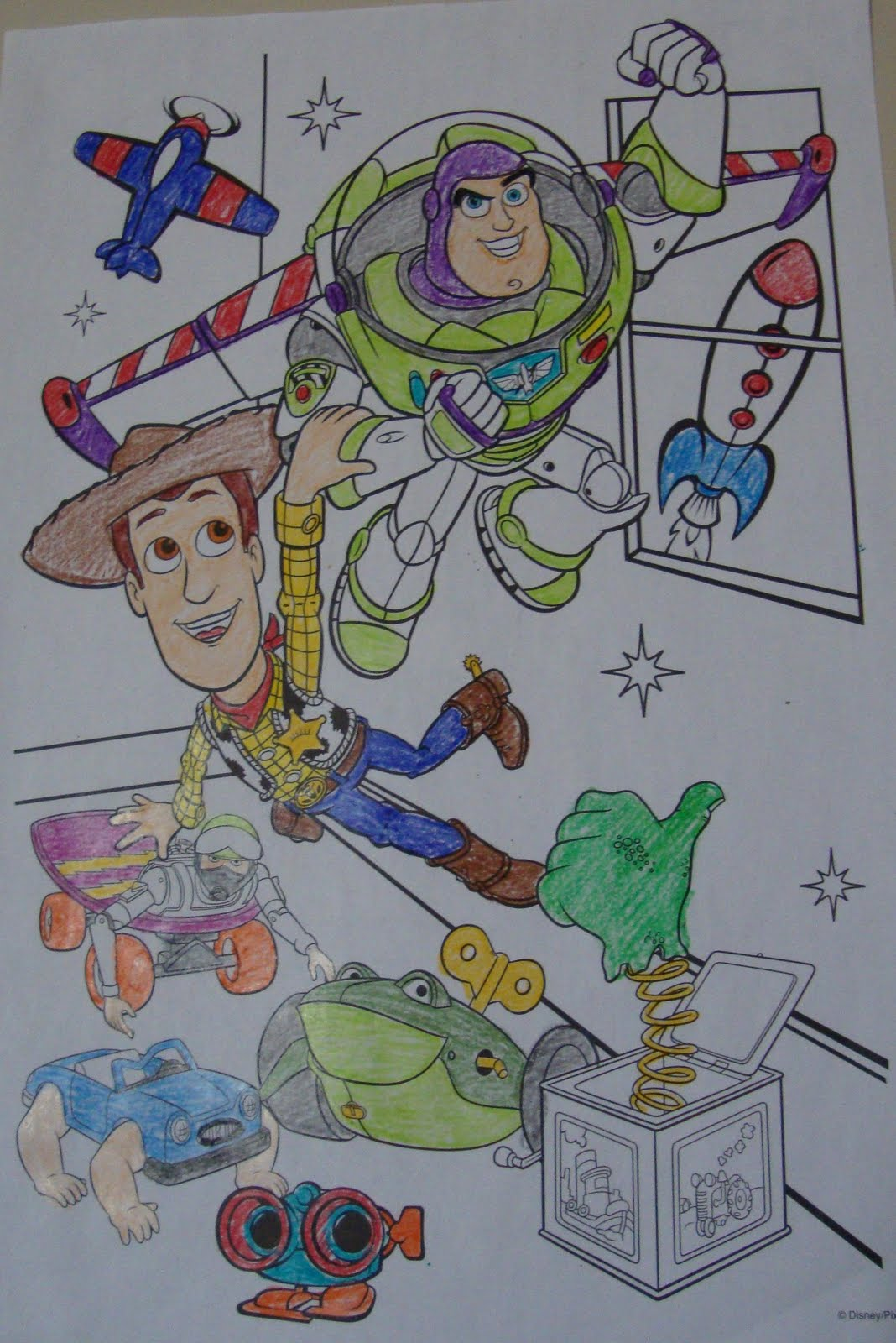 Coloring pages already colored - Toy Story Posters I Colored A Few Sheets Of The Large Toy Story Coloring Pages The Kids Already Had The Kids Were Supposed To Help Color But Were Too