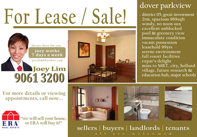 D.05 Dover Parkview - For Sale / Lease! - 2rm + balcony with excellent pool view