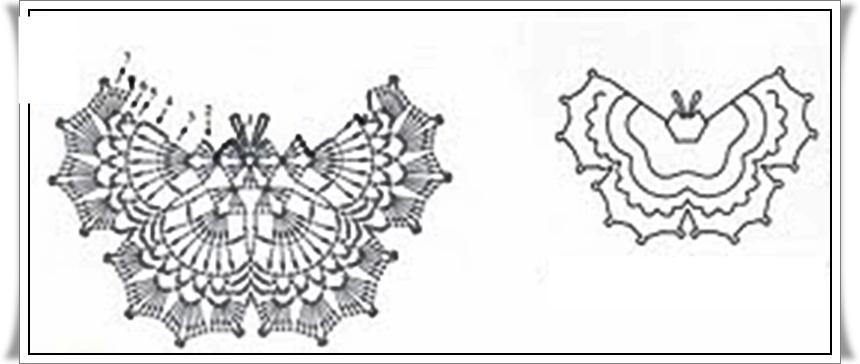 Patrones de mariposas al crochet - Imagui