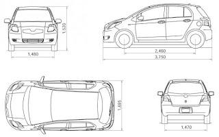 toyota yaris indonesia: Ukuran Dimensi Toyota Yaris