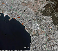 GPS map, Thessaloniki