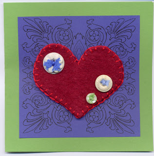 felted valentine