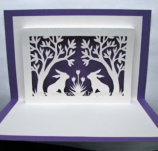 Easter pop up window card