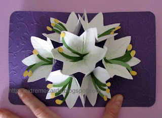 Easter seven flower pop up card