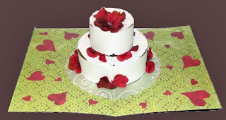 wedding cake pop up card