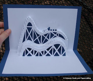 roller coaster pop up card