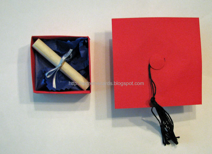 Graduation cap money holder box for Homemade money box ideas