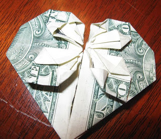 money origami heart