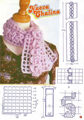 Muchas Bufandas tejidas a crochet