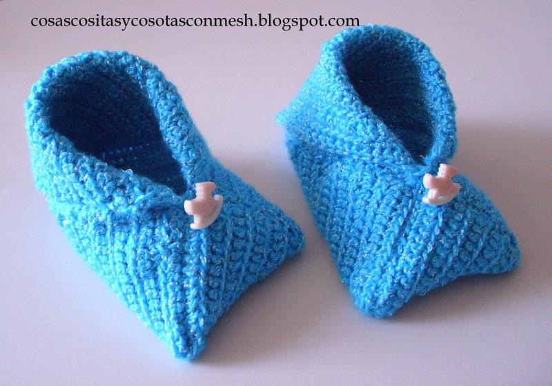 Zapatitos a crochet para bebe ~ cositasconmesh