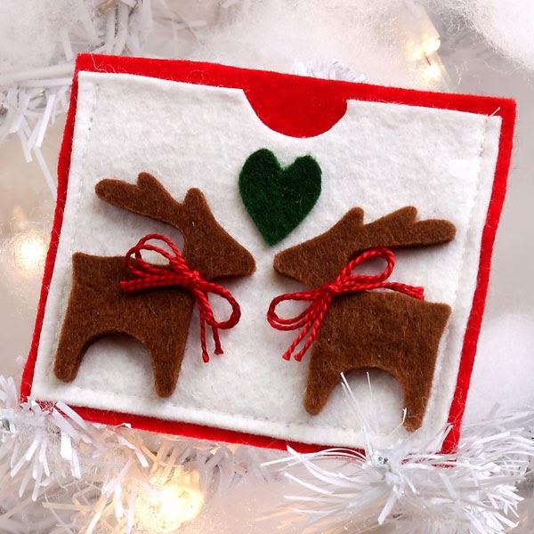 Tarjetas navide as hechas a mano con fieltro cositasconmesh - Postales navidenas originales ...