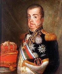 'D. João VI',de Jean-Baptiste Debret,Museu Histórico Nacional (MHN) Rio de Janeiro.Tomada de www.museuhistoriconacional.com.br