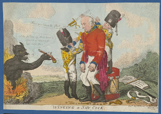 'Winging a Shy Cock', Anonimo, 1808