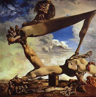 'Construcción blanda con judías hervidas-Premonición de la guerra civil'(1936) de don Salvador Dalí