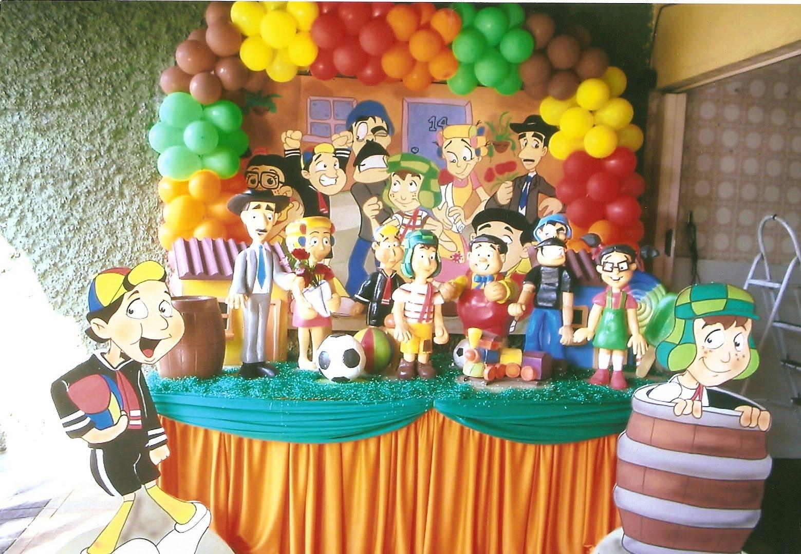festa do chavesBuddy Decorações Decoração Turma do Chaves