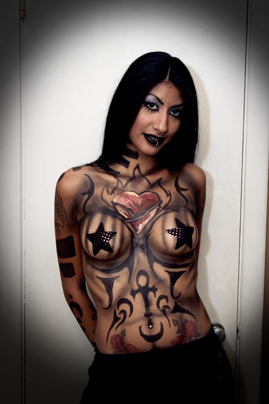 Illyria Jade Body Painted for Modelween 2006 in Houston, Texas
