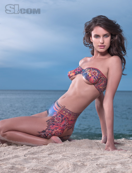 Body Painting Sports Illustrated Model at Beach