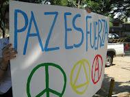 Adhesión cadena humana por la paz  2008