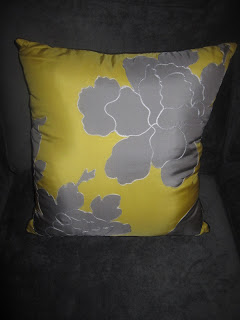 Grey and Yellow Decorative Throw Pillow