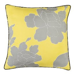 Yellow and Grey Pillow from Target @ Chasing Davies