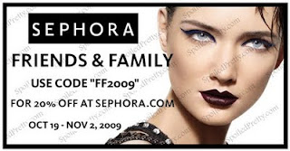 Sephora Friends and family 2009 Discount