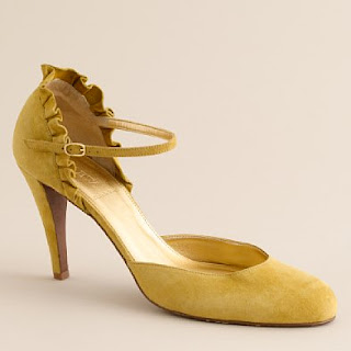 Yellow Heels from JCrew @ Chasing Davies